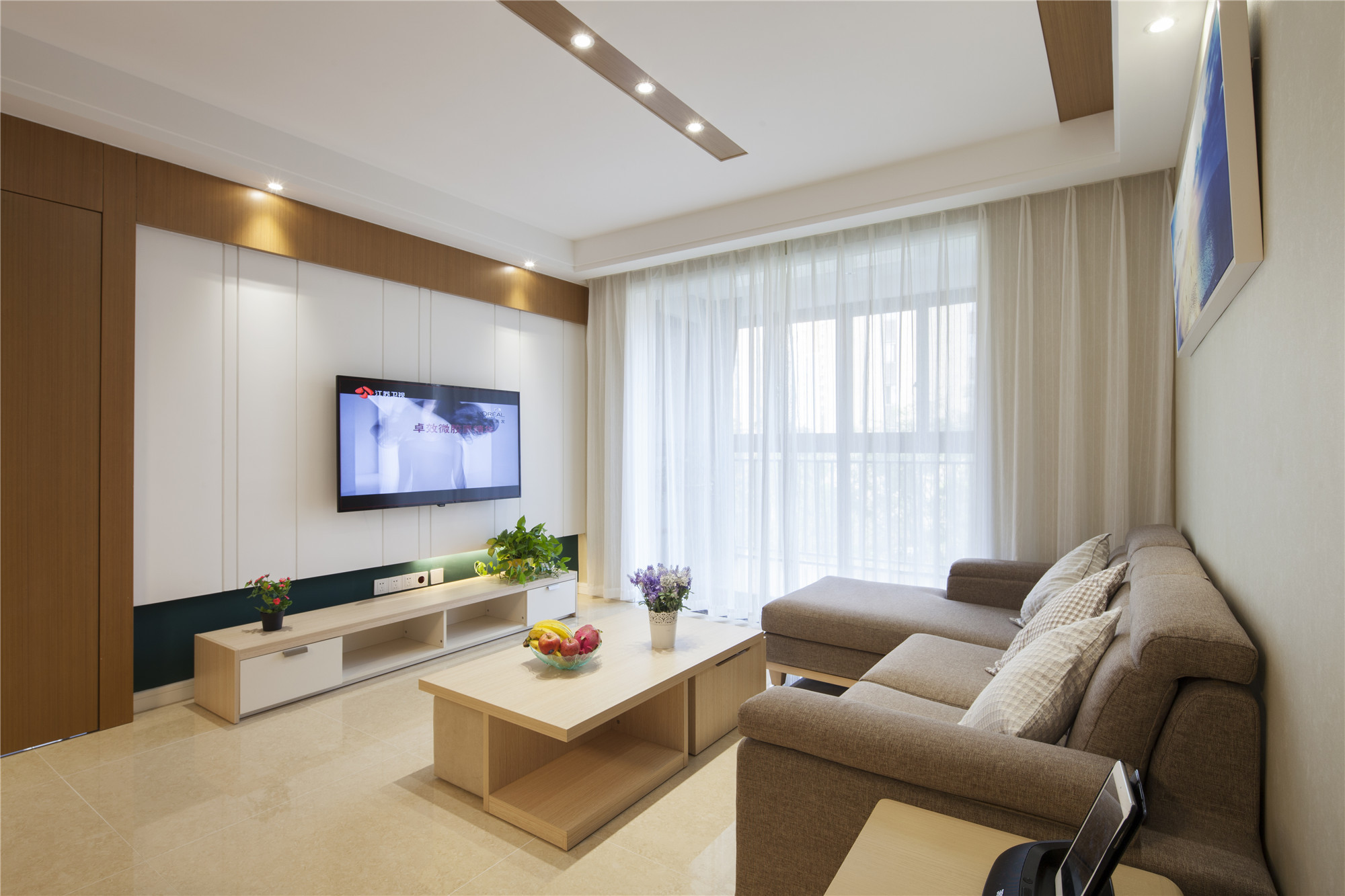 136平简约装修客厅设计图