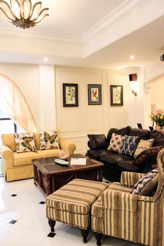 美式复式别墅装修沙发图片