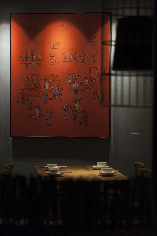 中餐厅装修餐厅背景墙图片