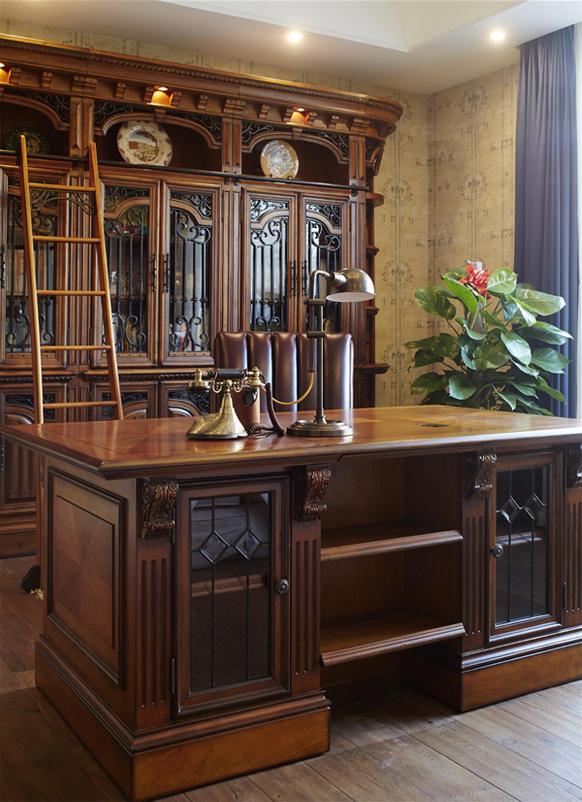 美式别墅装修书房设计图