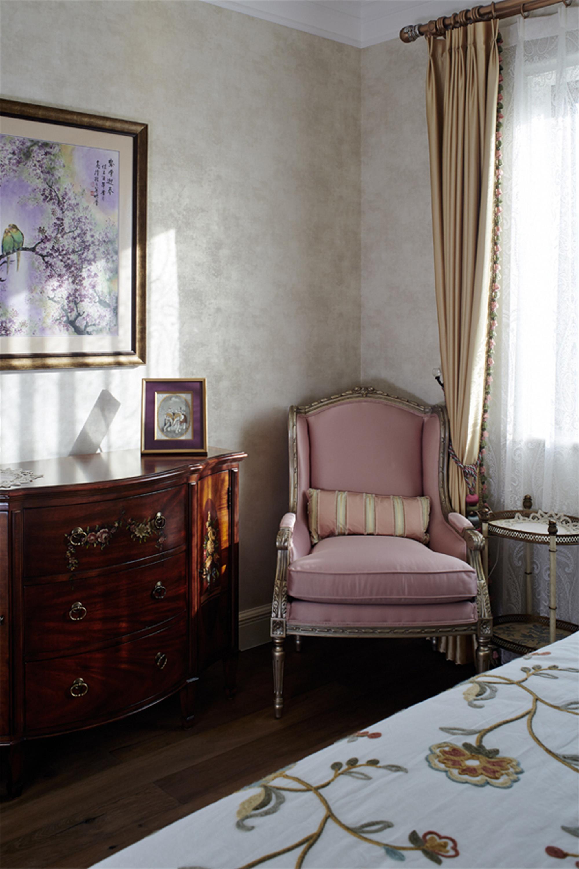 美式别墅装修设计卧室休闲一角