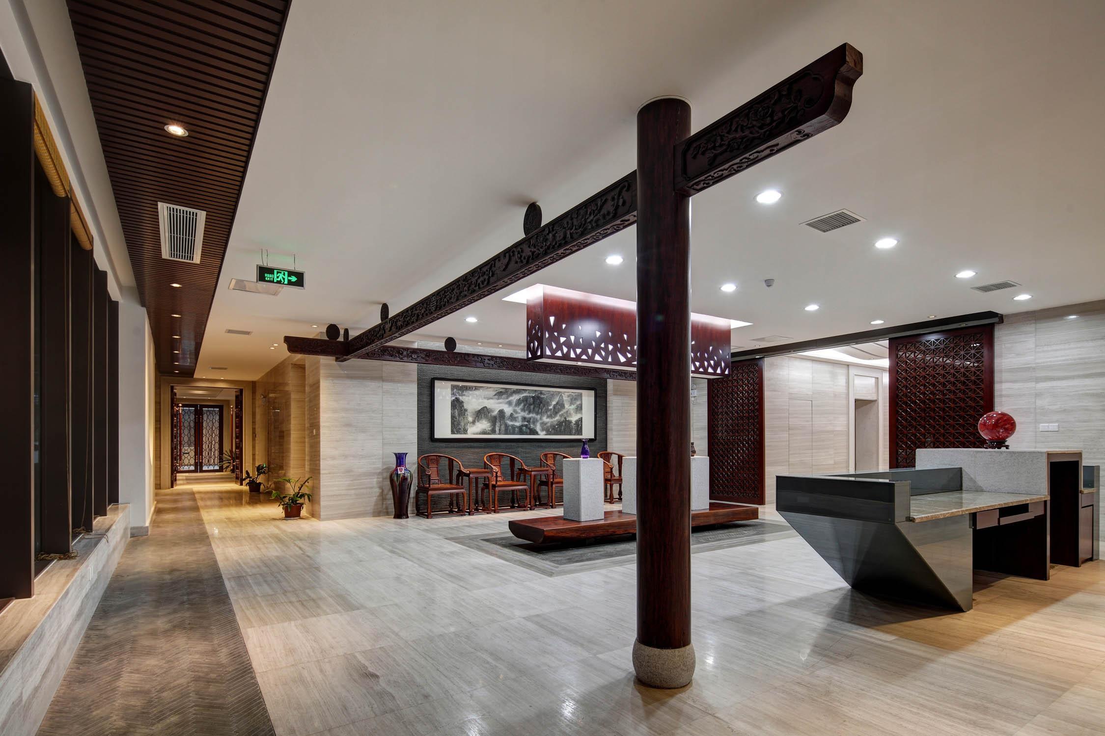 办公展厅装修大厅效果图