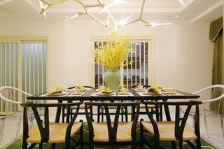 复式混搭装修餐桌椅图片