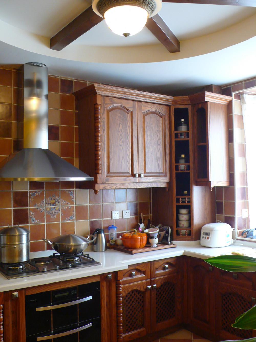 小户型田园风格装修厨房设计图