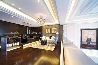 后现代别墅装修起居室效果图