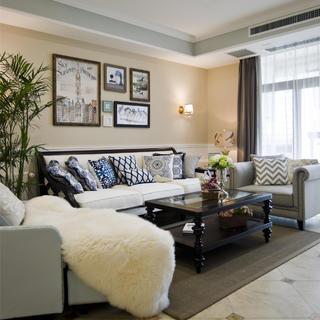 温馨美式风格三居装修设计图