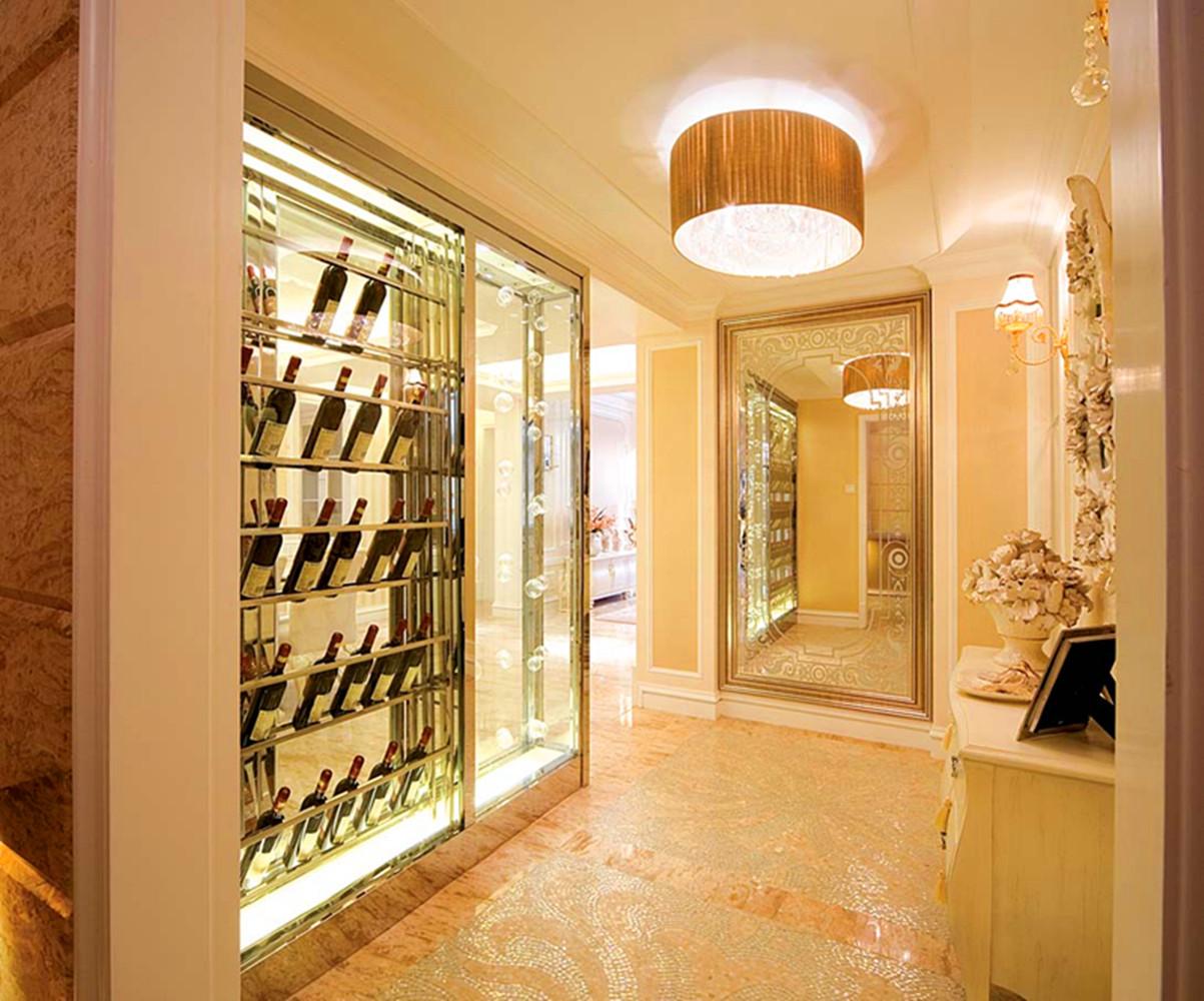 法式别墅装修红酒柜设计