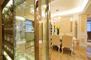 法式別墅裝修玻璃柜隔斷