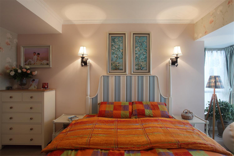 混搭风格三居卧室背景墙图片