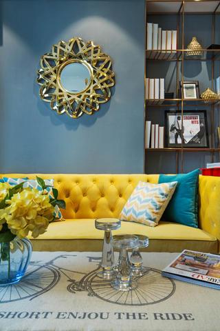 70㎡混搭风装修沙发背景墙图片