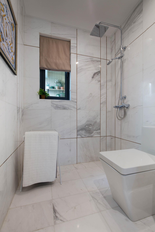 70㎡混搭风装修淋浴间图片
