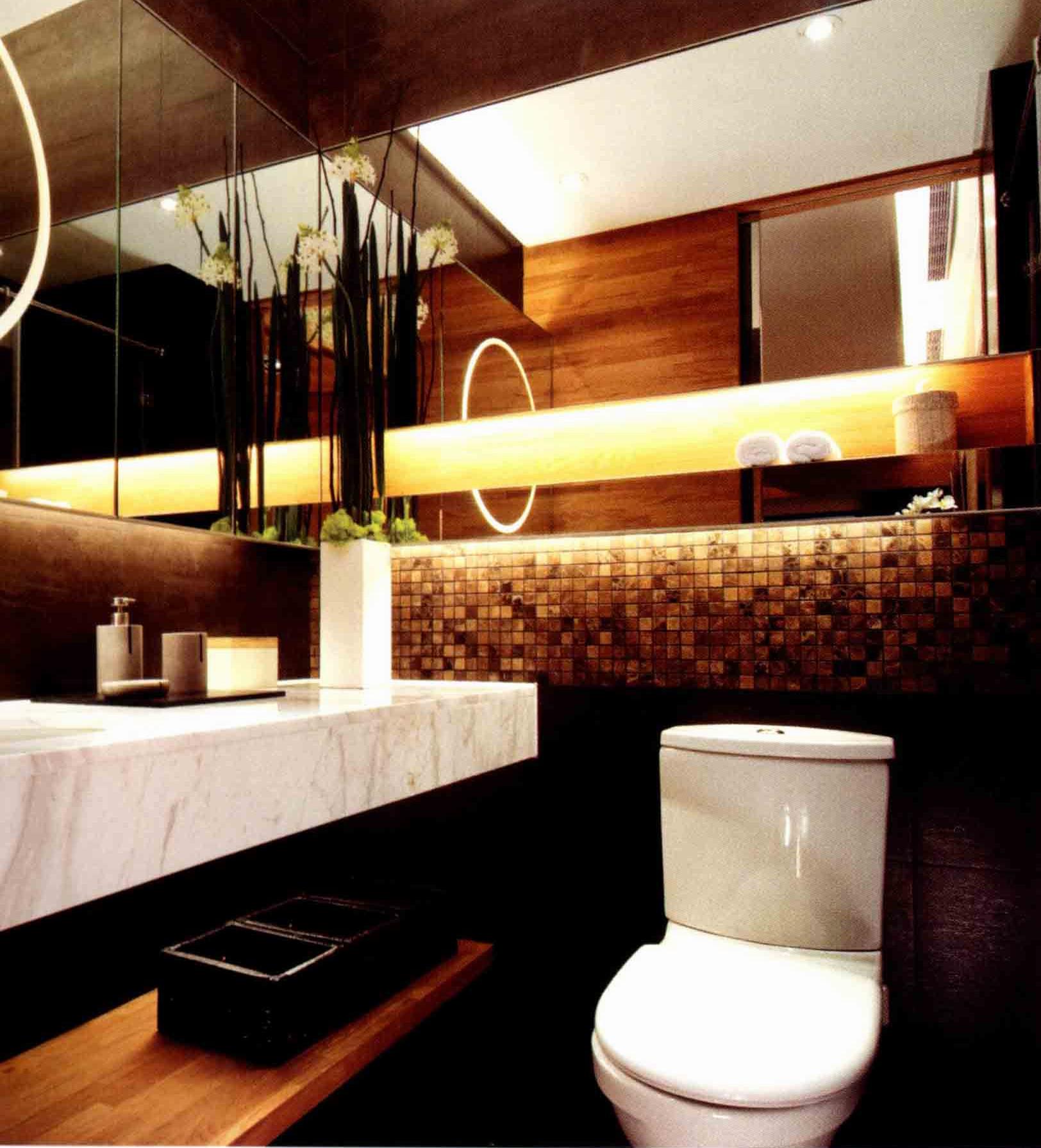 80平一居室卫生间设计图