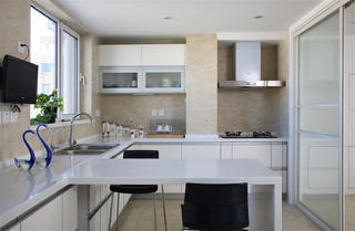 140平简约装修厨房设计图
