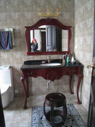 新古典别墅装修洗手台图片