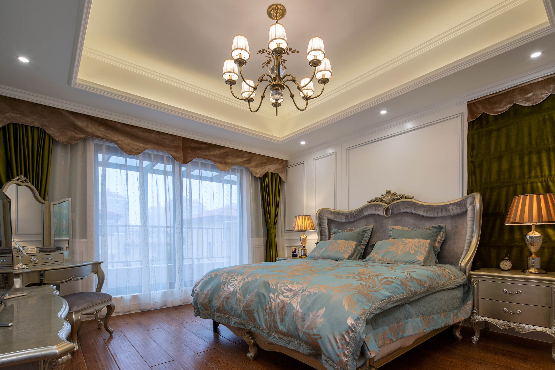 新古典欧式别墅装修主卧搭配图