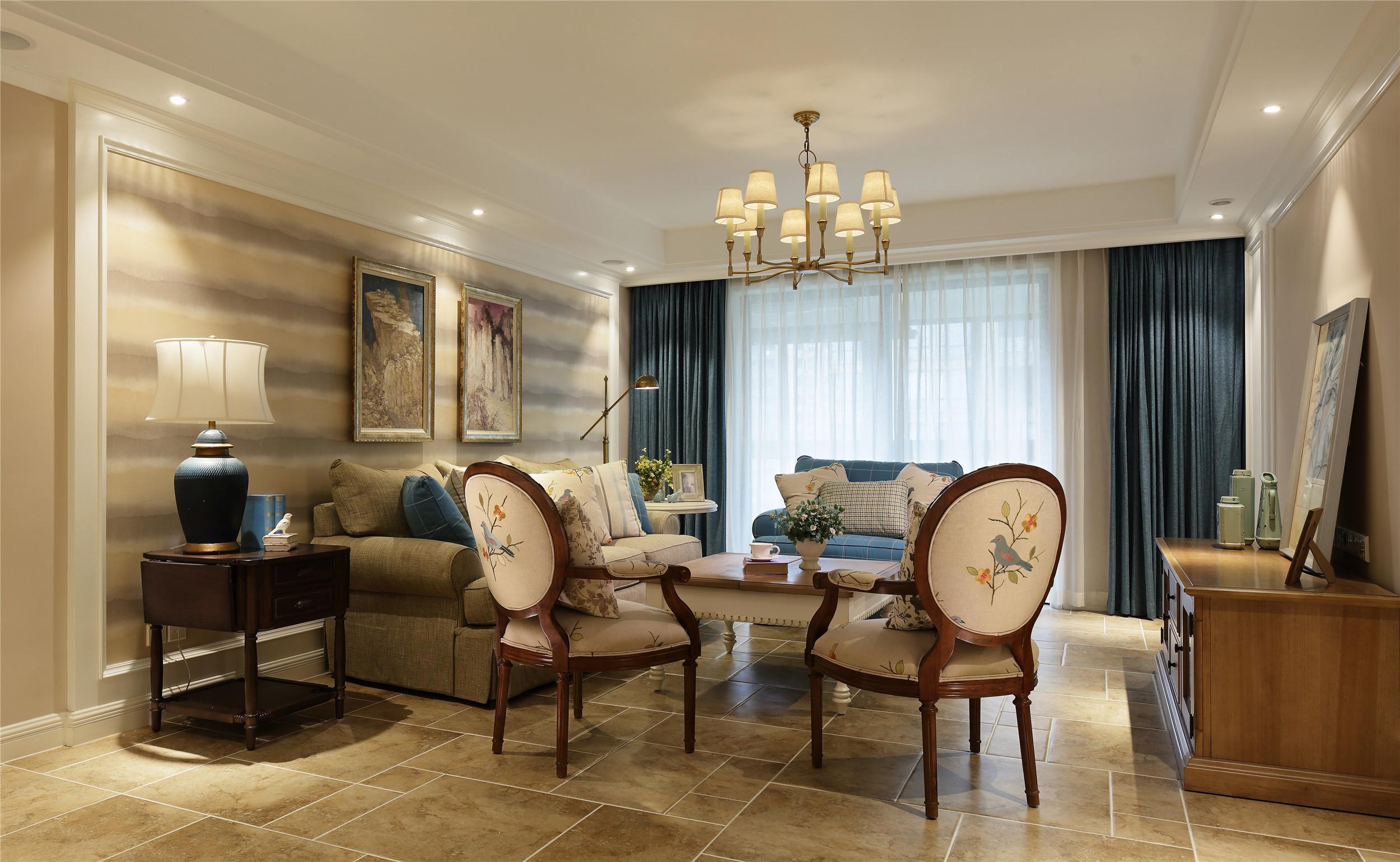 三居室美式之家客厅效果图