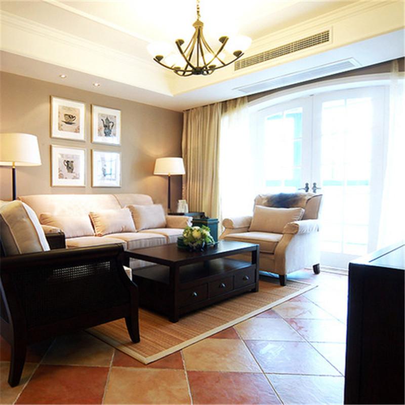 美式风格三居之家客厅装修效果图