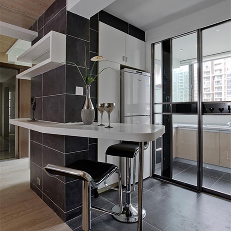 130平现代风格家吧台装修设计效果图