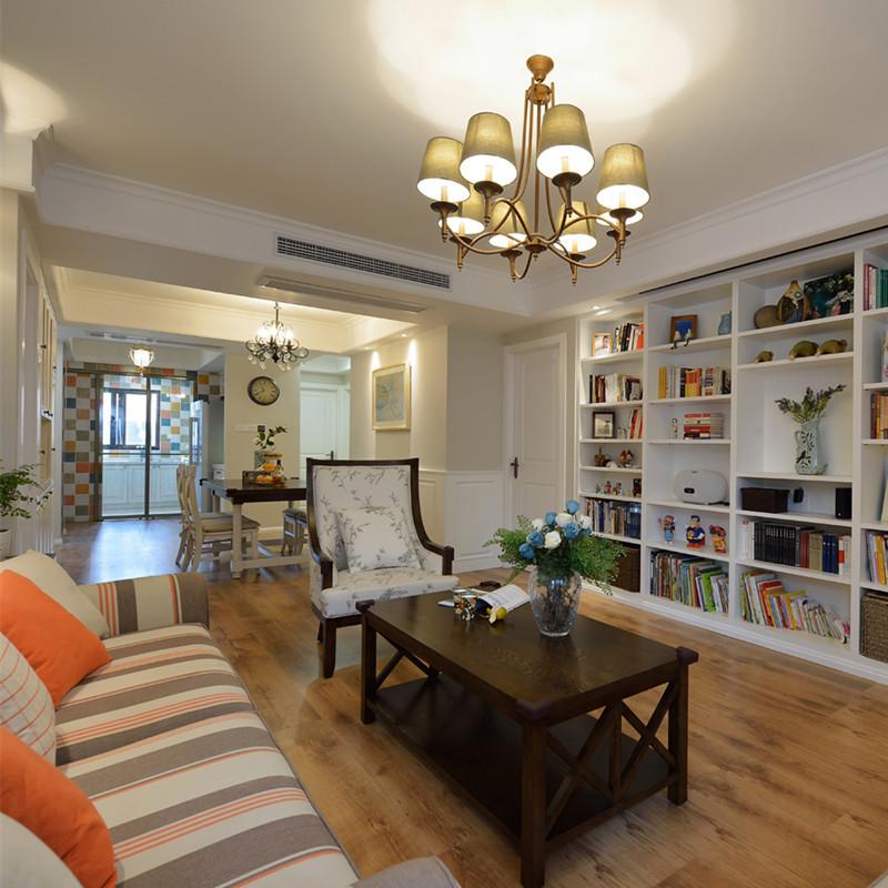100㎡美式客厅装修效果图