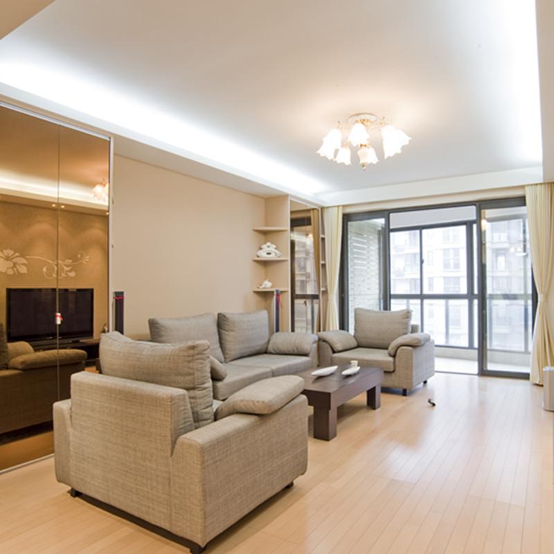80㎡现代简约风格沙发背景墙装修效果图片