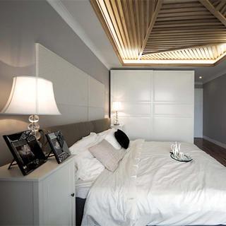 三居室现代简约卧室装修效果图