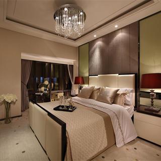 现代风格装修卧室搭配图