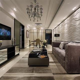 现代风格装修客厅效果图