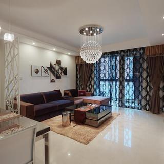 三居室简约装修沙发背景墙设计