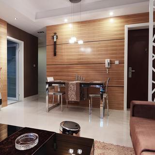 三居室简约装修餐厅背景墙设计