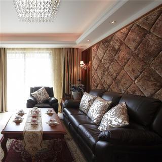 125平新古典两居客厅装修效果图
