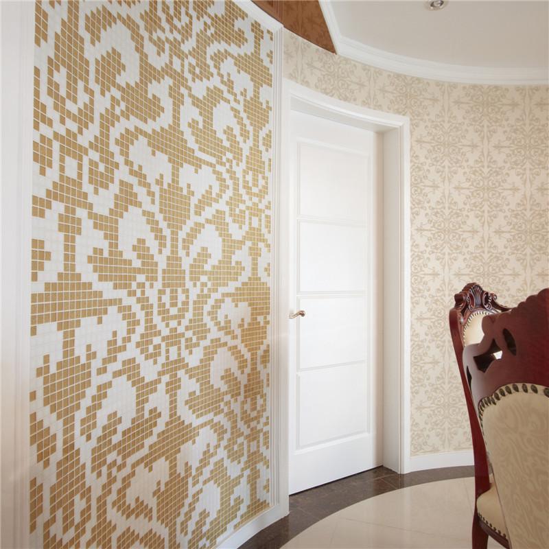 125平新古典两居餐厅背景墙装修效果图