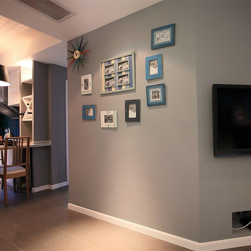 120平北欧混搭风格装修照片墙布置