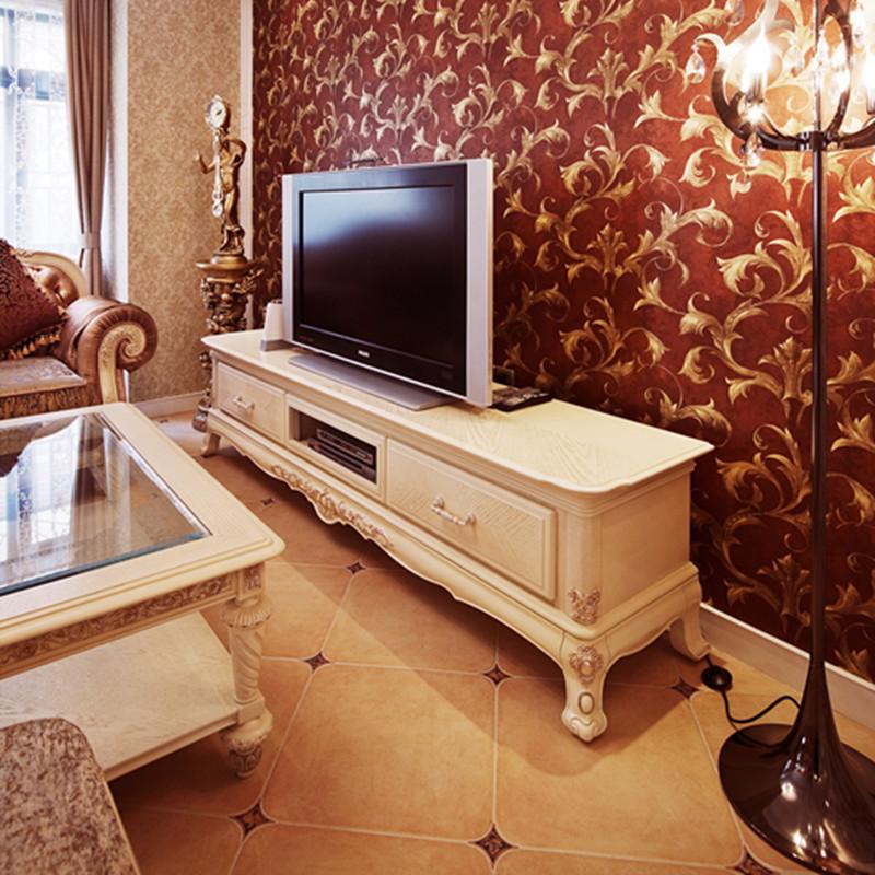 160平复式欧式风格电视背景墙图片