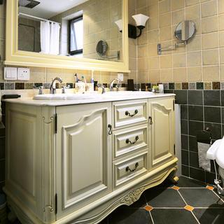 简约美式两居装修浴室柜设计