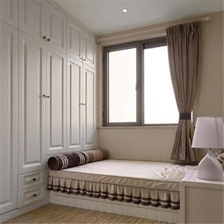 现代奢华风格三居装修榻榻米卧室设计