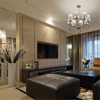 现代奢华风格三居装修效果图