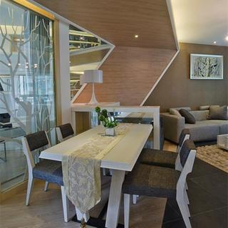 130平现代风格家餐桌图片