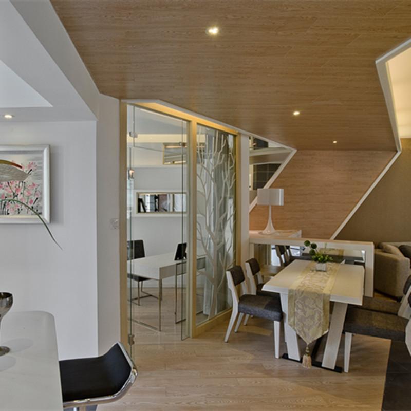 130平现代风格家餐厅吊顶设计