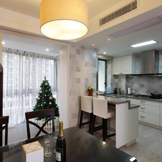 130平美式三居厨房装修效果图