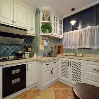 100㎡美式两居厨房装修效果图