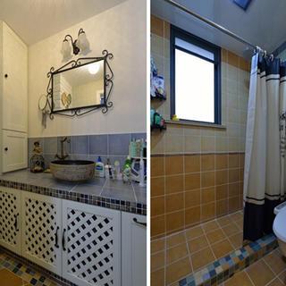 100㎡美式两居卫生间装修效果图