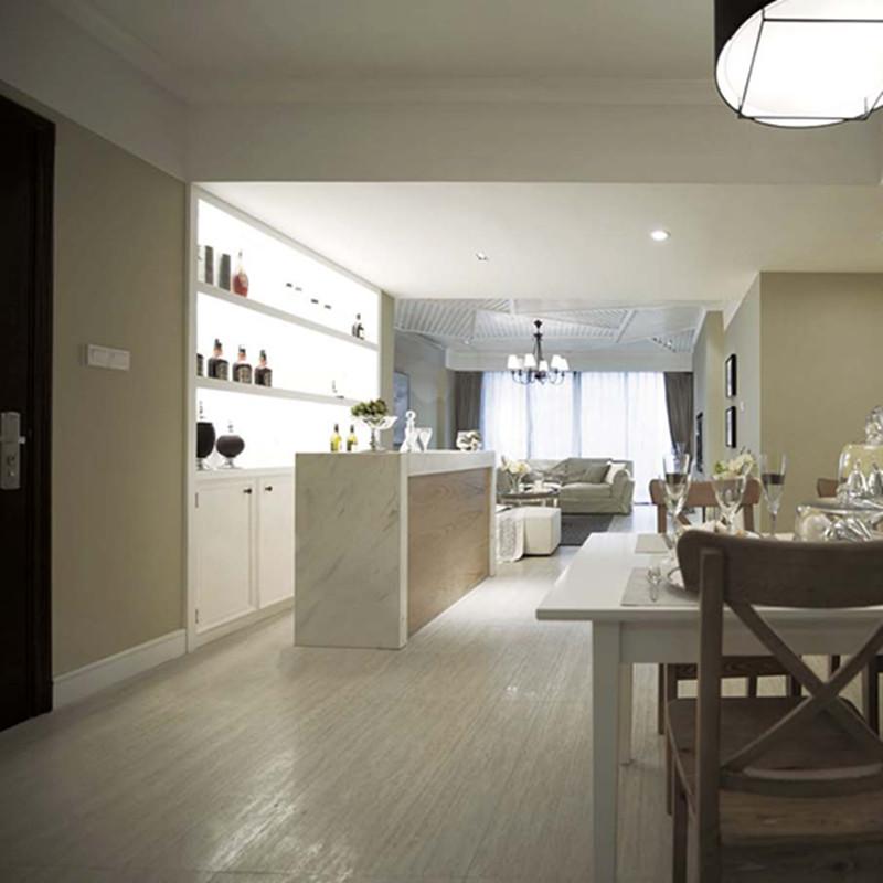 三居室现代简约吧台装修效果图