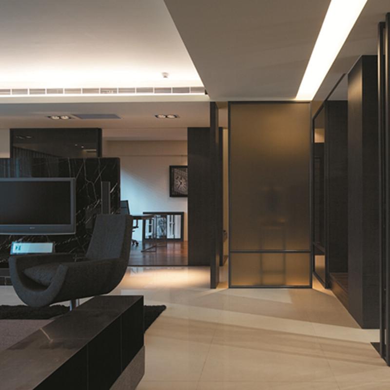 现代风三居装修电视背景墙设计