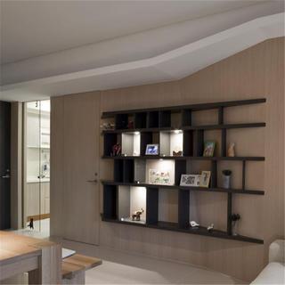 客厅三居室简约装修储物架设计