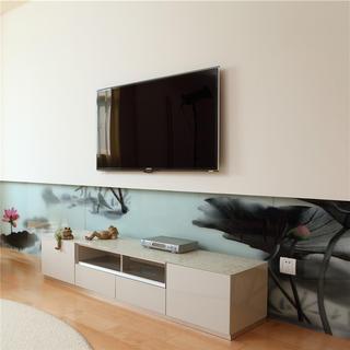 简约两居室装修电视背景墙图片