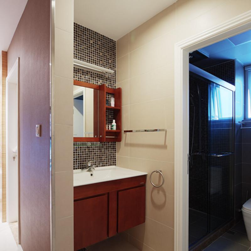 三居室简约装修浴室柜设计