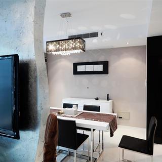 复式现代简约风格装修餐厅背景墙图片