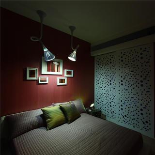 一居室简约小户型装修床头背景墙图片