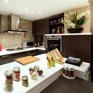 混搭中式厨房装修效果图