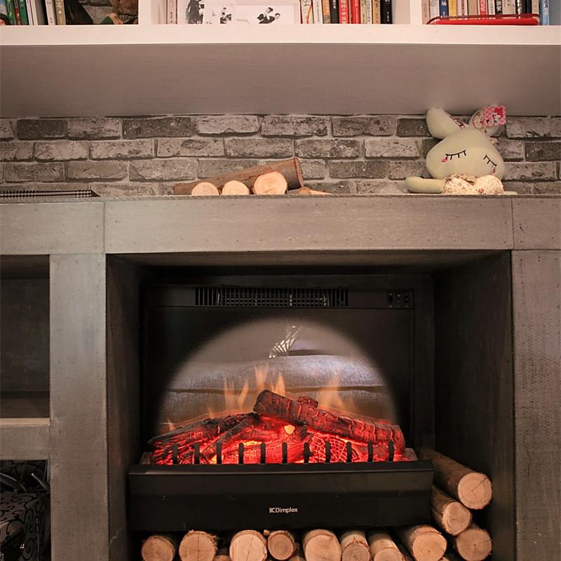120平北欧混搭风格装修壁炉装饰